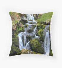 Glen Clova waterfall Throw Pillow
