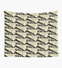 A Town on Paper Wall Tapestry