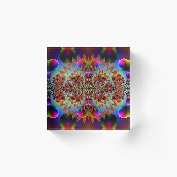 #Fractal #Psychedelic #Art #PsychedelicArt PsychedelicColors Acrylic Block