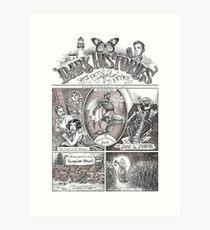 The Dark Histories Podcast - Victorian Penny Newspaper Art Print
