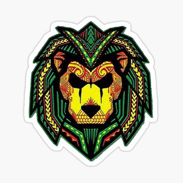Bob Marley Lion Mosaik Art Sticker