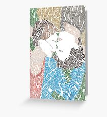 The Fault in Our Stars Movie Poster Typography Greeting Card