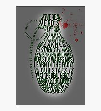 Grenade Typography Photographic Print