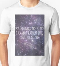 """My thoughts are stars..."" - TFiOS T-Shirt"