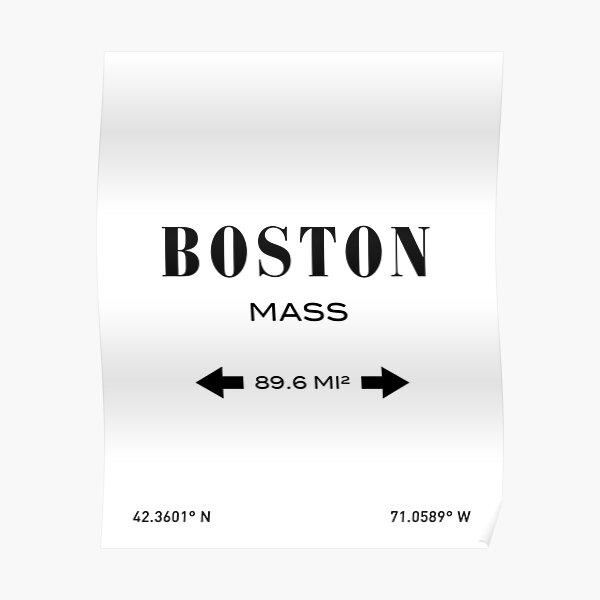 Boston Print Poster
