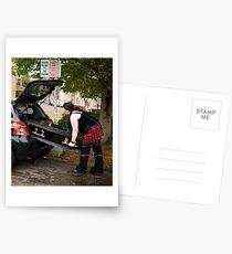 Economy funeral? Postcards