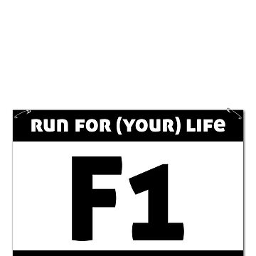 Running Bib | Female, no.: 1 by Elefje