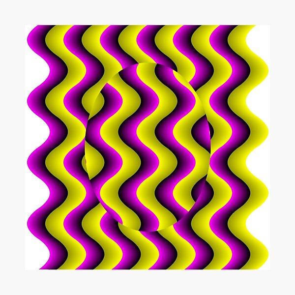 #Illusion, #abstract, #design, #art, illustration, pattern, shape, decoration Photographic Print