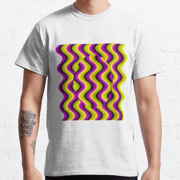 #Illusion, #abstract, #design, #art, illustration, pattern, shape, decoration Classic T-Shirt