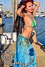 Ange Maya Wore Blue Bikini Top Turquoise Dance Skirt Posing at Marina by ANGE MAYA