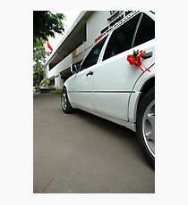 wedding car Photographic Print