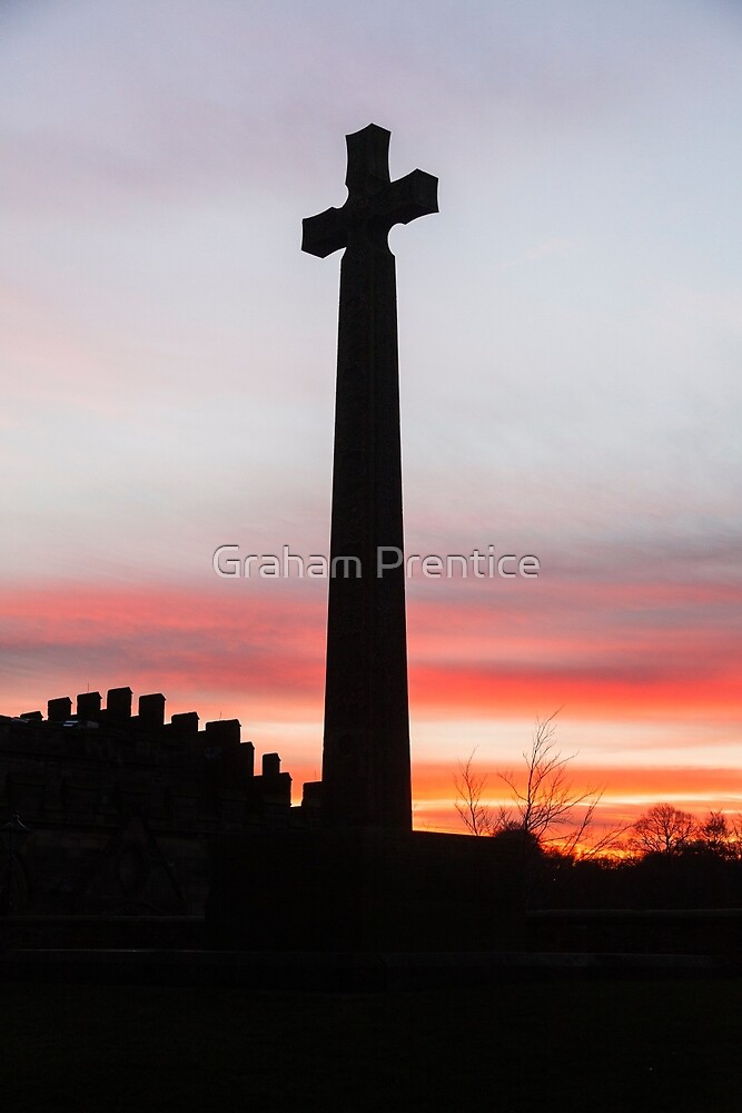 Stone Cross at Durham Cathedral by Graham Prentice