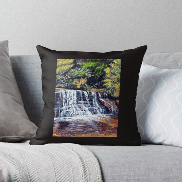 Cascades, Blue Mountains Throw Pillow