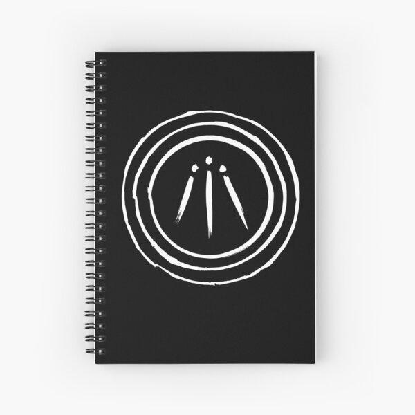 Awen - white on black Spiral Notebook