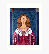 Ines de Castro - The love crowned Art Print