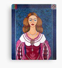 Ines de Castro - The love crowned Metal Print