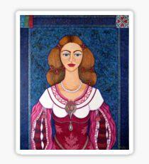 Ines de Castro - The love crowned Sticker