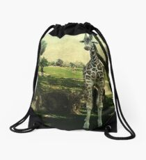 I Thought You Always Wanted To Be a Giraffe Drawstring Bag