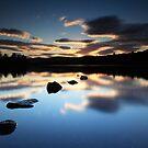 Sunset Clunie Loch by Angus Clyne