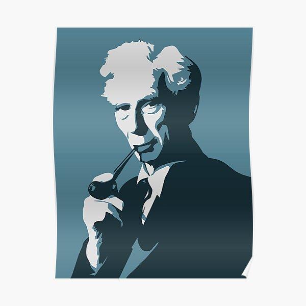 Bertrand Russell (blue) Poster