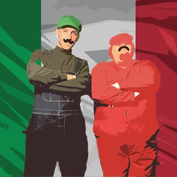 Italian Mario Bros Poster by crazycowboy557