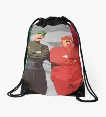 Italian Mario Bros Poster Drawstring Bag