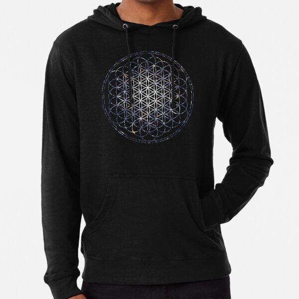 Flower Of Life - Sacred Geometry Star Cluster Lightweight Hoodie