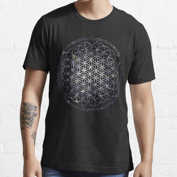 Flower Of Life - Sacred Geometry Star Cluster Essential T-Shirt