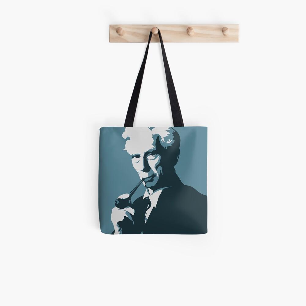 Bertrand Russell (blau) Tote Bag