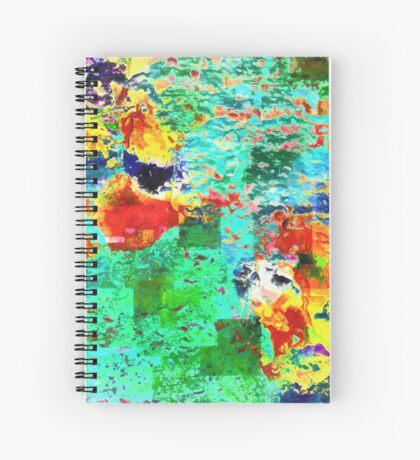 Paw Prints Tummy Rub Spiral Notebook