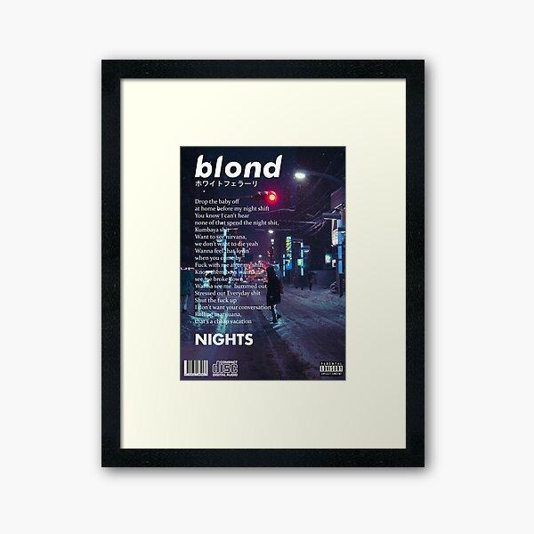 Frank Ocean - Nights Artwork Framed Art Print