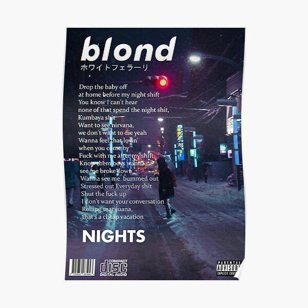 Frank Ocean - Nights Artwork Poster