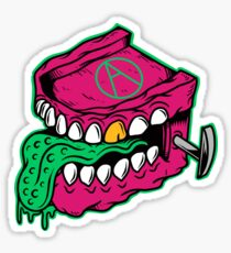 Chattering Teeth Monster - designed by Joe Tamponi Sticker