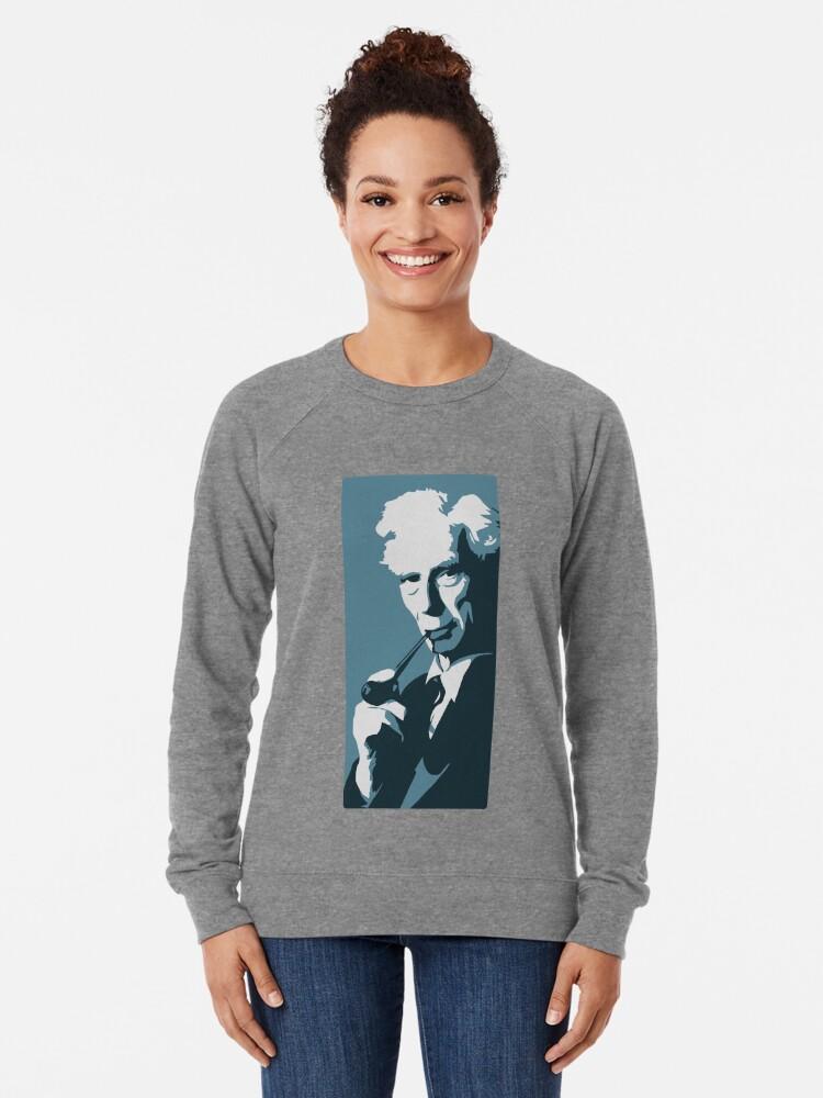 Alternative Ansicht von Bertrand Russell (blau) Leichter Pullover