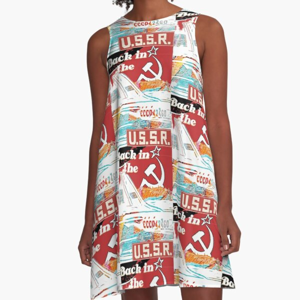 USSR Aeroflot - Back in the USSR A-Line Dress