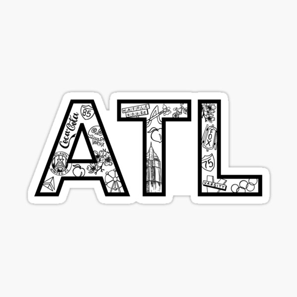 ATL Atlanta Sticker