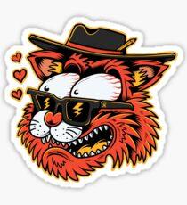 Loving cat - designed by Joe Tamponi Sticker