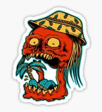 Skull eating palm trees - designed by Joe Tamponi Skull eating palm trees - designed by Joe Tamponi Sticker