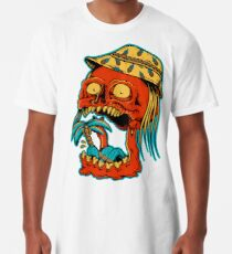 Skull eating palm trees - designed by Joe Tamponi Skull eating palm trees - designed by Joe Tamponi Long T-Shirt