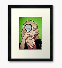 Broken Hearted Detective Framed Print