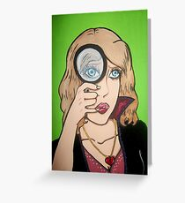 Broken Hearted Detective Greeting Card