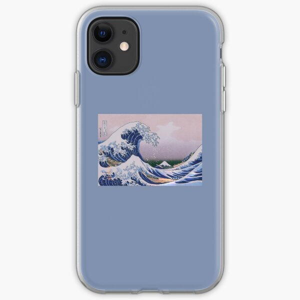 the great wave art aesthetic phone case lavender painting iPhone Soft Case
