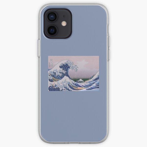 la pintura de lavanda de la caja del teléfono estética del arte de la gran ola Funda blanda para iPhone
