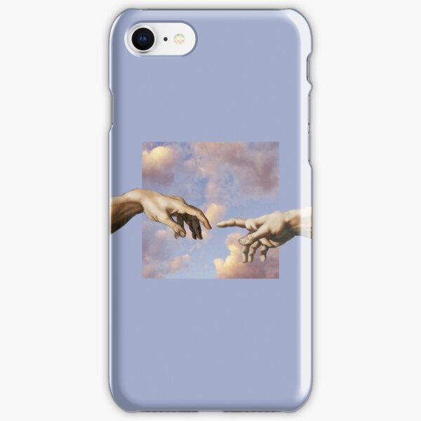 hands michelangelo art aesthetic phone case purple painting iPhone Snap Case