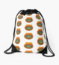 Psychedelic vacation skull - designed by Joe Tamponi Drawstring Bag
