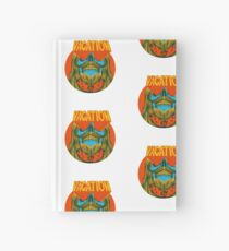 Psychedelic vacation skull - designed by Joe Tamponi Hardcover Journal