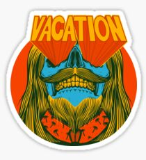 Psychedelic vacation skull - designed by Joe Tamponi Sticker
