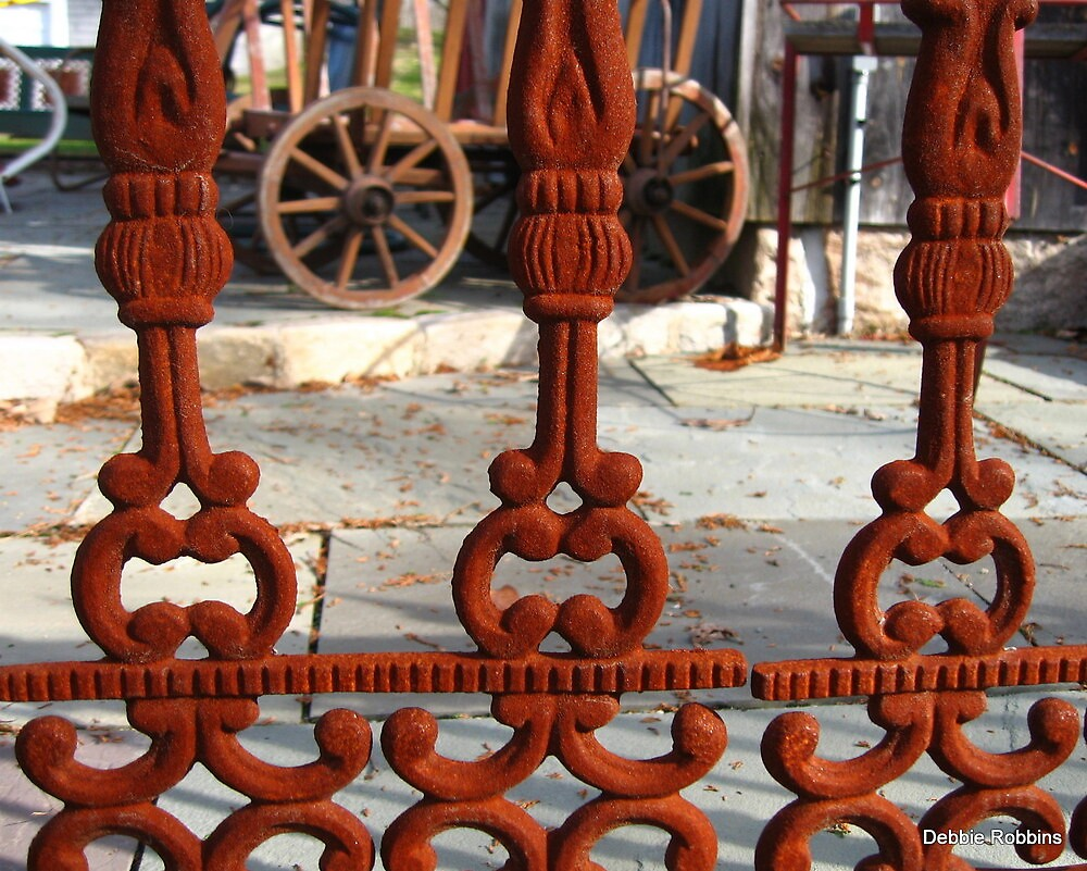 Old Wrought Iron Fence by Debbie Robbins