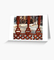 Old Wrought Iron Fence Greeting Card