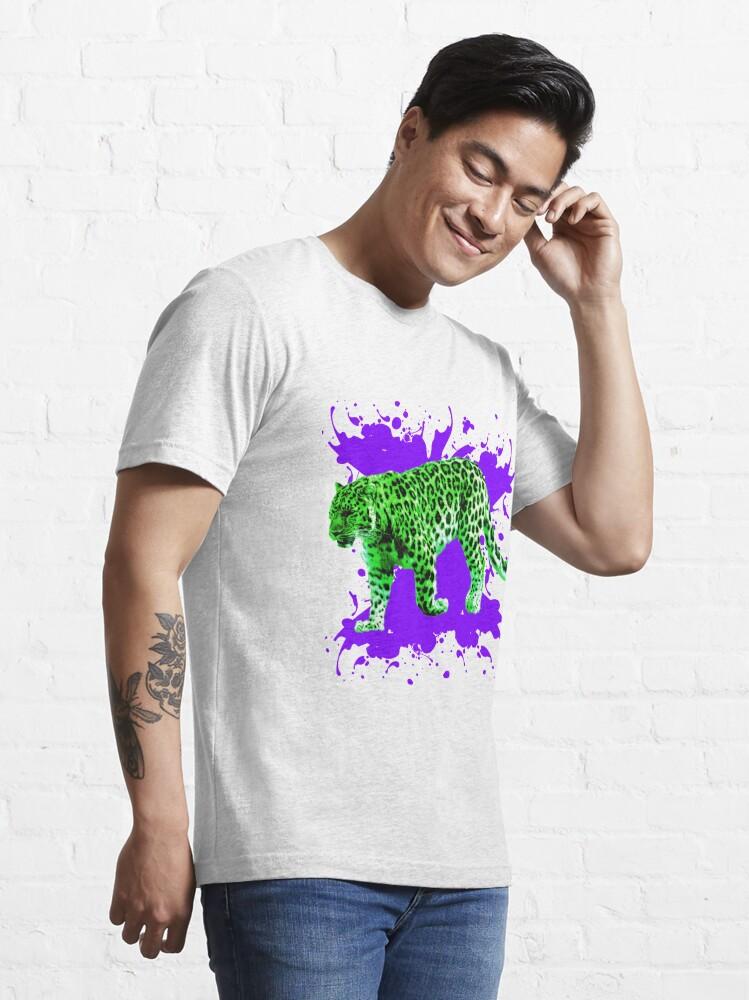 Alternative Ansicht von Grüner Leopard Essential T-Shirt